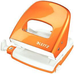 Perforateur 2 trous Leitz Wow - 30 feuilles - orange (photo)