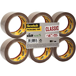 Rouleaux Polypropylène 3M Scotch -  50mmx66m - havane - lot de 6 (photo)