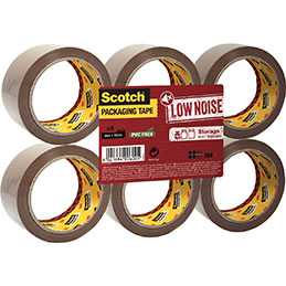 Rouleaux adhésif polypropylène acrylique 3M Scotch - 50mmx66m - havane - lot de 6 (photo)