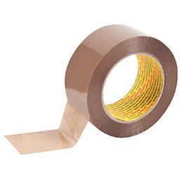 Rouleaux adhésif polypropylène acrylique silencieux 3M Scotch - 50mmx100m - havane - lot de 6 (photo)