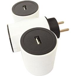 Bloc 2 prises USB 2,4A modulables + 1 prise 16A Safetool (photo)
