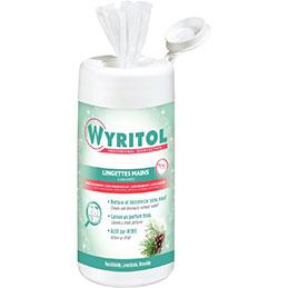 Lingette mains 2en1 WYRITOL - boîte distributrice de 100 (photo)