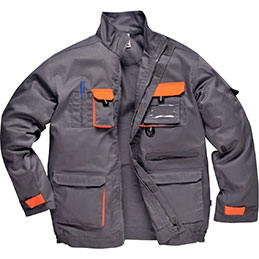 Blouson TEXO Portwest - gris/orange - taille L (photo)