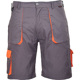 Bermuda TEXO Portwest - gris/orange - taille L (photo)