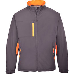 Blouson SOFTSHELL TEXO Portwest - gris/orange - taille XL (photo)