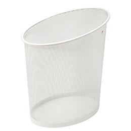 Corbeille à papier en métal Mesh - blanc (photo)