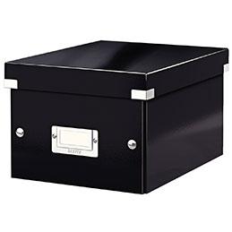 Boîte de rangement en carton CLICKSTORE Esselte - A5+ - noir (photo)