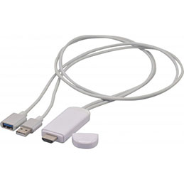 Convertisseur USB iOS (Lightning) ou Android vers HDMI® (photo)