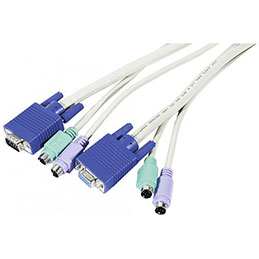 Cordon KVM VGA M/F et PS2 M/M - 5,0M