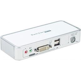 Kvm 2 ports DVI/USB 2.0 + Audio + Cables