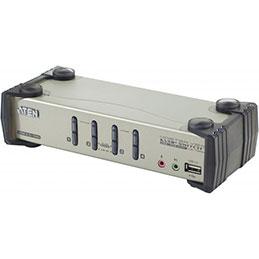Aten  KVM CS1734B Master View VGA/USB avec câbles - 4 U.C. (photo)