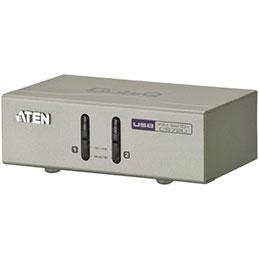 Aten CS72U kvm 2 ports VGA/USB/Audio + cables