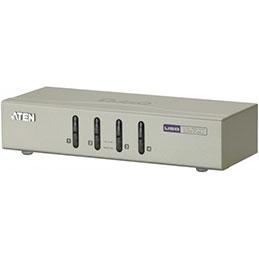 Aten CS74U kvm 4 ports VGA/USB/Audio + cables