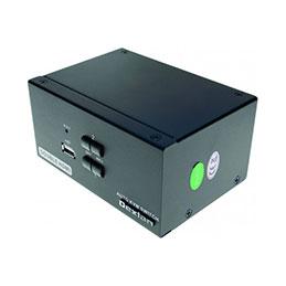 DEXLAN KVM 2 portsS double écran HDMI 4K / USB 2.0 + câbles