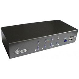 Switch KVM VGA/USB + audio livré avec cables - 4 ports