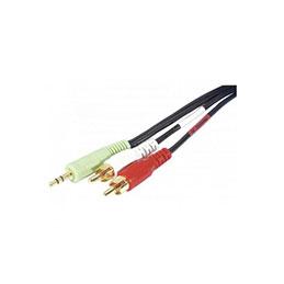 Cordon stéreo Jack 3.5 mm vers 2 x RCA PC99 - 10 m
