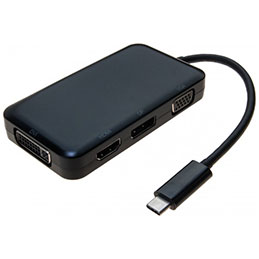 Convertisseur multiports USB 3.1 Type-C vers VGA - DVI - HDMI - DisplayPort (photo)