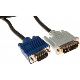 Cord.ecran dvi-a/vga HD15M 5M (photo)