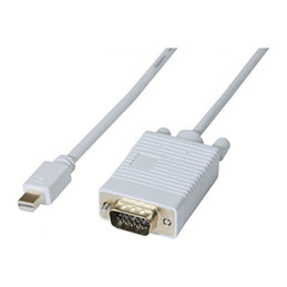 Cordon mini DisplayPort 1.1 vers VGA 2M (photo)