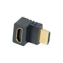 Adaptateur hdmi or m/f coude 90° - modele b (photo)