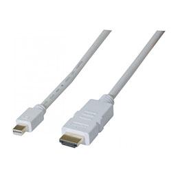 MiniDP1.2 vers HDMI1.4 blanc - 2m