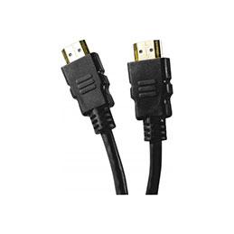 Cordon HDMI haute vitesse ethernet brassage droit -noir 0,5m