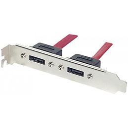 Equerre slot eSATA 2 ports