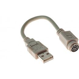 ADAPTATEUR USB 2.0 A M / MDIN6 F GRIS 0,2 M (photo)