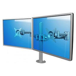 DATAFLEX Bras à fixer / pincer Viewmate 52632 - 2 écrans