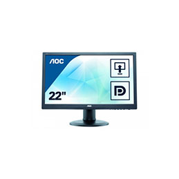 Ecran AOC Value E2260PQ VGA/DVI/DisplayPort + HP - 22 (photo)