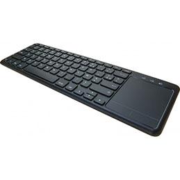 Clavier avec touchpad sans fil noir (photo)