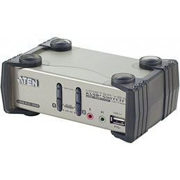 Aten CS1732B kvm 2 ports usb + audio avec 2 ports hub et OSD (photo)