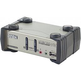 Aten CS1732B kvm 2 ports usb + audio avec 2 ports hub et OSD (photo)