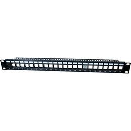 DEXLAN Panneau 1U 24 ports STP keystone avec support cables (photo)