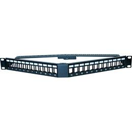 DEXLAN Panneau 1U angulaire 24 ports UTP keystone avec supp cables (photo)