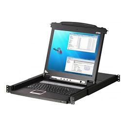 Aten CL1008M console KVM LCD 17' simple rail 8 ports VGA/PS2 (photo)