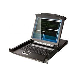 ATEN CL5708M CONSOLE KVM LCD 17' 8 PORTS + PORTS USB (photo)