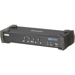 Aten CS1764A KVM DVI / USB + Audio - 4 ports avec cables (photo)