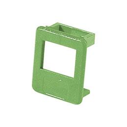 Insert pour panneau RJ lot de 50 pcs-vert (photo)