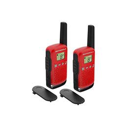 Motorola TLKR T42 2 Talkies Walkies 4 KMS rouge (photo)