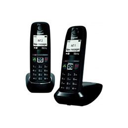 Gigaset AS470 DUO téléphone DECT noir - base + 2 combinés (photo)