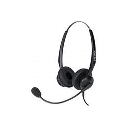 DACOMEX casque téléphone micro Flex antibruit - 2 écouteurs (photo)