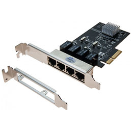 Carte pcie 4X Switch 4 ports Gigabit + low profile (photo)