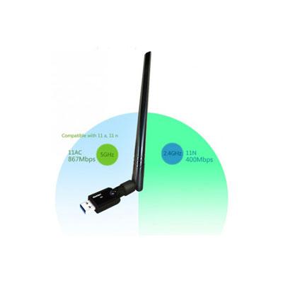 DEXLAN MINI CLÉ USB WiFi AC1200 ANTENNE DEMONTABLE (photo)