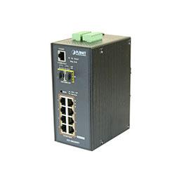 PLANET IGS-10020HPT Switch industriel Niveau 2 8 ports Gigabit PoE+ & Fibre