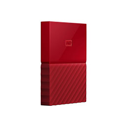 DD EXT. 2.5'' WD My Passport USB 3.0 1To - Rouge (photo)