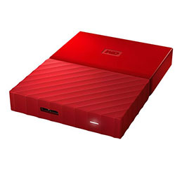 DD EXT. 2.5'' WD My Passport USB 3.0 4To - Rouge (photo)
