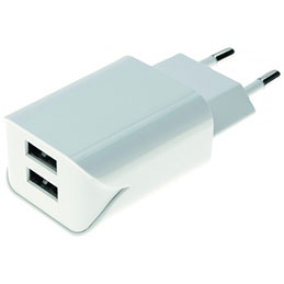 CHARGEUR SECTEUR 2 PORTS USB 2.4 A (photo)