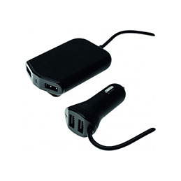 CHARGEUR ALLUME-CIGARE 4 PORTS USB 2+2