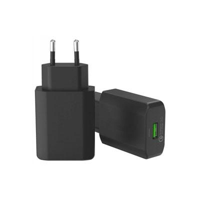 CHARGEUR SECTEUR 1 PORT USB QC 3.0 (photo)